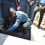 The Water Project: Chebunaywa Secondary School -  Flowing Water