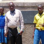 The Water Project: Chebunaywa Primary School -  Marion Cheagat Mr John Mundehe And Clinton Kibisu