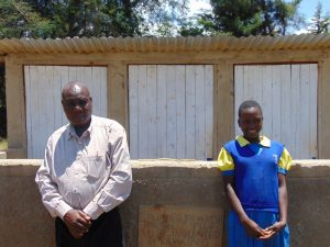 The Water Project:  Mr John Mundehe With Marion Cheagat