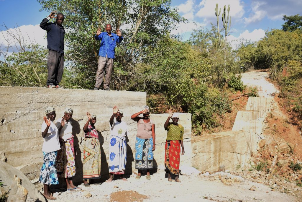 The Water Project : kenya19185-celebrating-completed-sand-dam