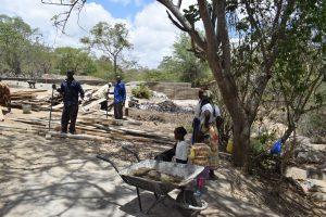 The Water Project:  Community Members Help In Construction