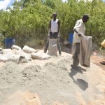 The Water Project: Mbau Community B -  Mixing Sand And Cement