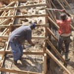 The Water Project: Ndithi Community -  Community Members Build Sand Dam