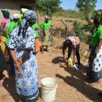 The Water Project: Ndithi Community A -  Demonstration On How To Construct A Handwashing Station