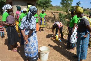 The Water Project:  Demonstration On How To Construct A Handwashing Station