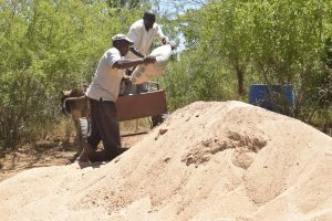 The Water Project:  Hauling Bag Of Cement