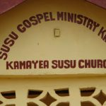 The Water Project: Kamayea, Susu Community & Church -  Church Sign