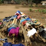 The Water Project: Kamayea, Susu Community & Church -  Clothes Drying