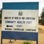 The Water Project: Lokomasama, Musiya, Nelson Mandela Secondary School -  Community Health Center Sign Board