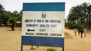 The Water Project:  Community Health Center Sign Board
