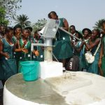 The Water Project: UBA Senior Secondary School -  Fetching Water From The Completed Well