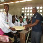 The Water Project: UBA Senior Secondary School -  Handing Over The Hygiene File To Senior Teacher