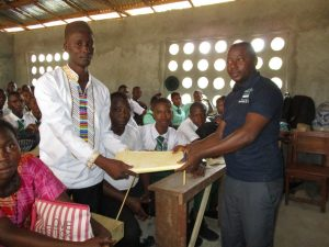 The Water Project:  Handing Over The Hygiene File To Senior Teacher
