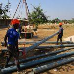 The Water Project: UBA Senior Secondary School -  Preparing Casing