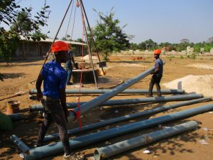 The Water Project:  Preparing Casing