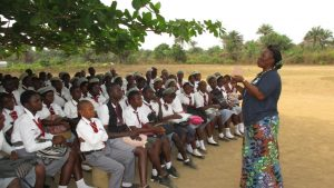 The Water Project:  Facilitator Instructs The Students