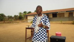 The Water Project:  Mr Boyah Inspector Of School Kaffubullom Chiefdom
