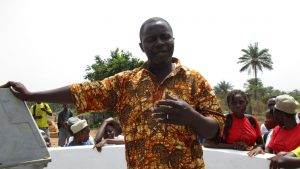 The Water Project:  Mr David Conteh School Principal