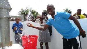 The Water Project:  School Staff And Students Celebrating Fro Safe Drinking Water