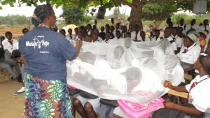 The Water Project:  Students Learn About Using Mosquito Net