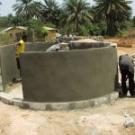 The Water Project: Rowana Junior Secondary School -  Well Pad And Walls Nearly Done
