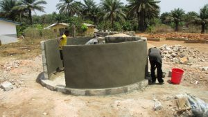 The Water Project:  Well Pad And Walls Nearly Done