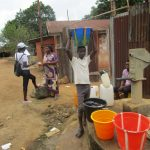 The Water Project: Lungi, Rotifunk, 1 Aminata Lane -  Carrying Water From Community Well