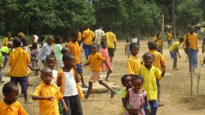 The Water Project:  Students Out Of Class Room