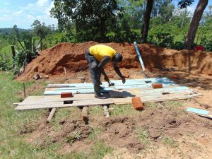 The Water Project:  Latrine Floor Construction