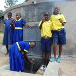 The Water Project: Ibwali Primary School -  Flowing Fresh Water