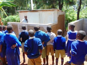 The Water Project:  Learning About The New Latrines