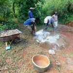 The Water Project: Mutao Community, Shimenga Spring -  Mixing Cement