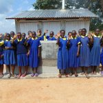 The Water Project: Ibwali Primary School -  Outside New Latrines