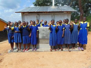 The Water Project:  Outside New Latrines