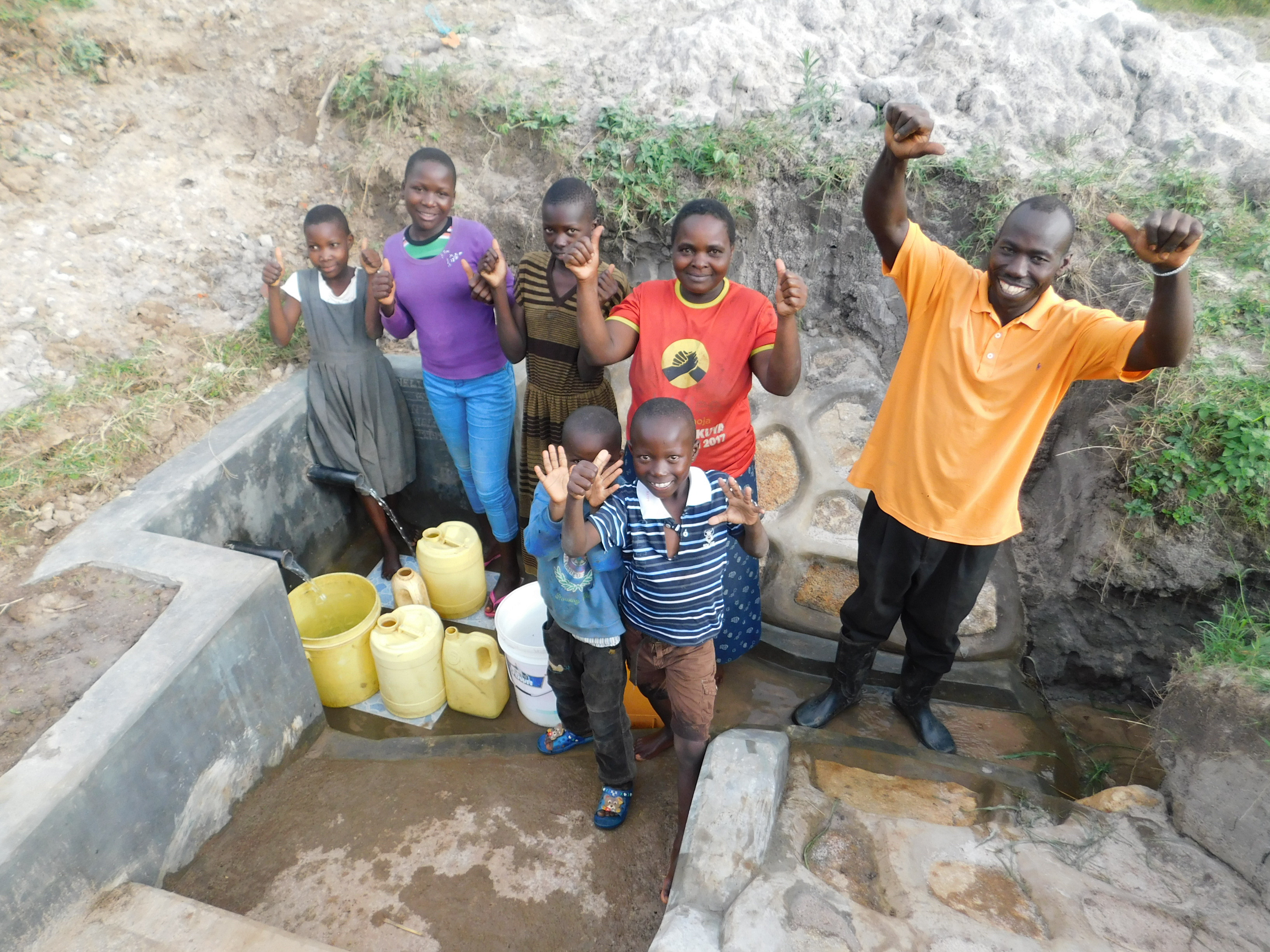 The Water Project : 13-5-kenya19094-thumbs-up-for-clean-water