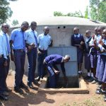 The Water Project: Musasa Secondary School -  Thumbs Up For A Working Tank