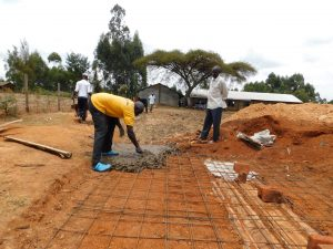 The Water Project:  Building The Latrine Foundation