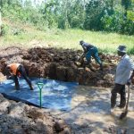 The Water Project: Sichinji Community, Makhatse Spring -  Spring Foundation Construction