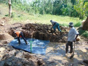 The Water Project:  Spring Foundation Construction