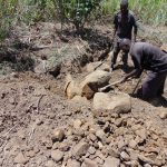 The Water Project: Mukhuyu Community, Kwakhalakayi Spring -  Getting Stones For Construction