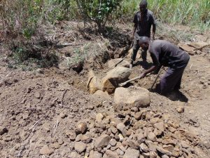 The Water Project:  Getting Stones For Construction