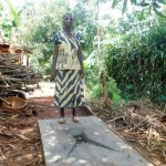 The Water Project: Mutao Community, Shimenga Spring -  Sanitation Platform