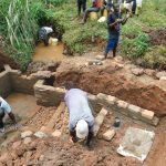 The Water Project: Shisere Community, Francis Atema Spring -  Spring Stairs Construction