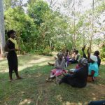 The Water Project: Eshiakhulo Community, Kweyu Spring -  Trainer Lynnah In Action