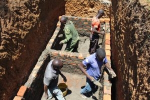 The Water Project:  Lining The Latrine Pit