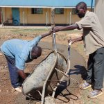 The Water Project: Essongolo Primary School -  Community Members Helping Lay The Foundation