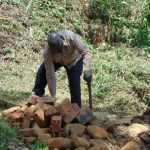 The Water Project: Sichinji Community, Makhatse Spring -  Sorting Through Bricks