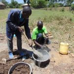The Water Project: Mukhuyu Community, Kwakhalakayi Spring -  Mixing Cement