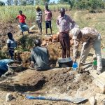 The Water Project: Mukhuyu Community, Kwawanzala Spring -  Mixing Cement