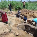 The Water Project: Mukhuyu Community, Kwakhalakayi Spring -  Spring Construction